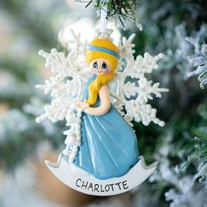 Personalised Snow Princess Decoration