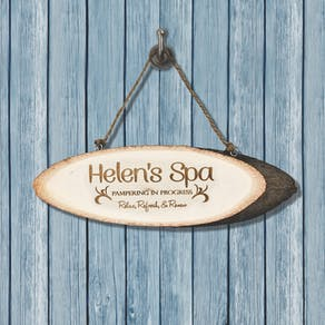 Personalised 'Spa' Wooden Sign