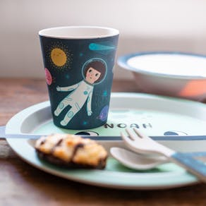 Personalised Space Bamboo Tableware Set