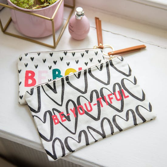 Personalised Set Of Two Cute Canvas Bags
