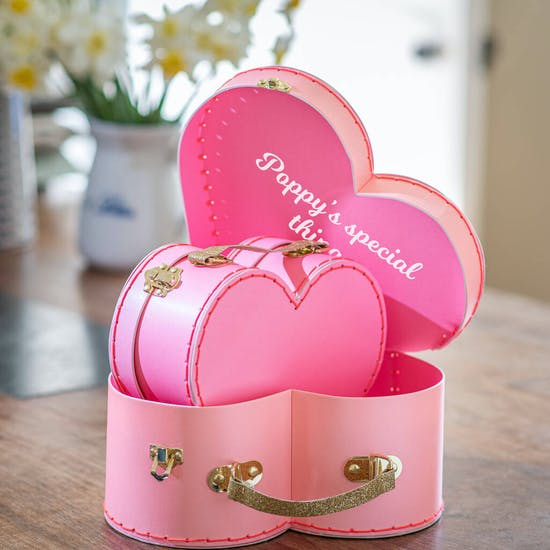 Personalised Set Of Two Heart Suitcase