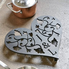 Personalised Steel Heart Trivet