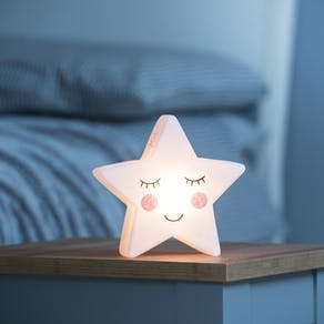 Personalised Star Face Night Light