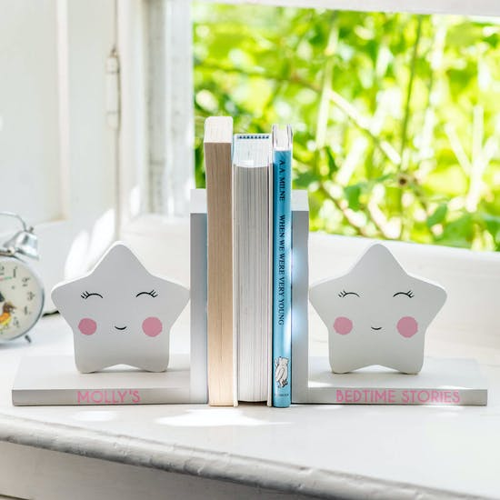 Personalised Star Happy Face Bookends