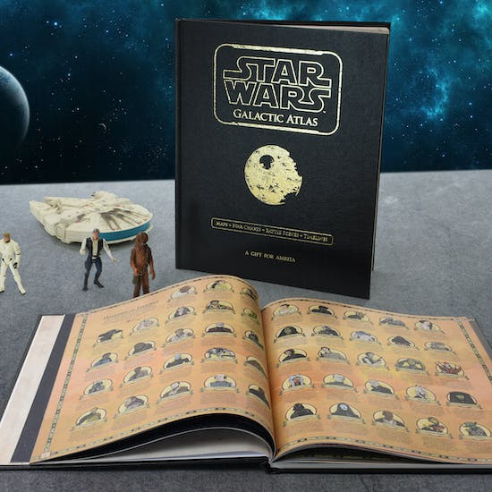 Luxury Personalised Star Wars Galactic Atlas Book