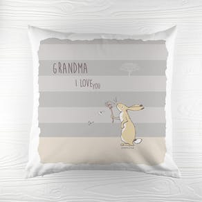 Personalised Striped 'Love You' Cushion Cover
