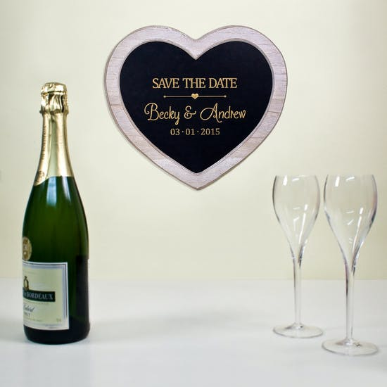 Personalised 'Save The Date' Chalkboard Heart