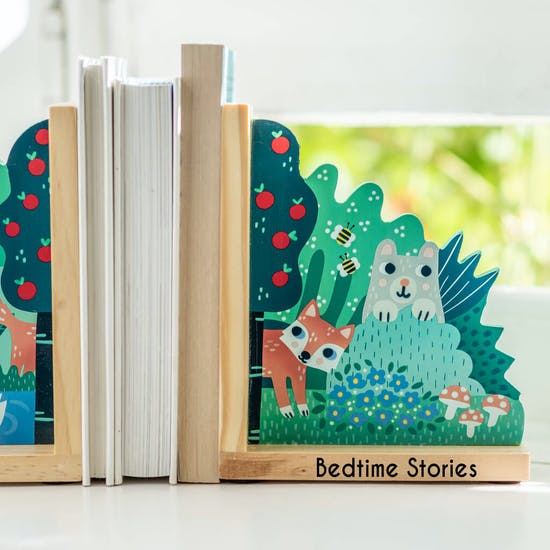 Personalised Sweet Woodland Bookends