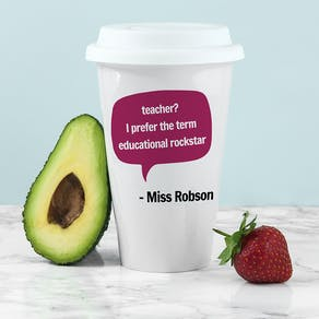 Personalised Teacher Says Travel Mug