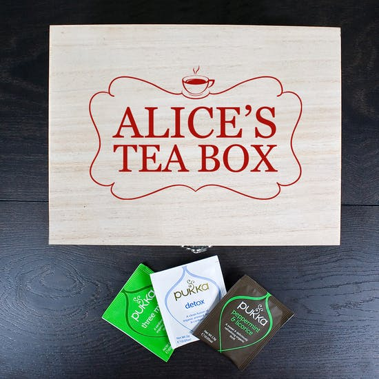 Personalised Tea Keepsake Box