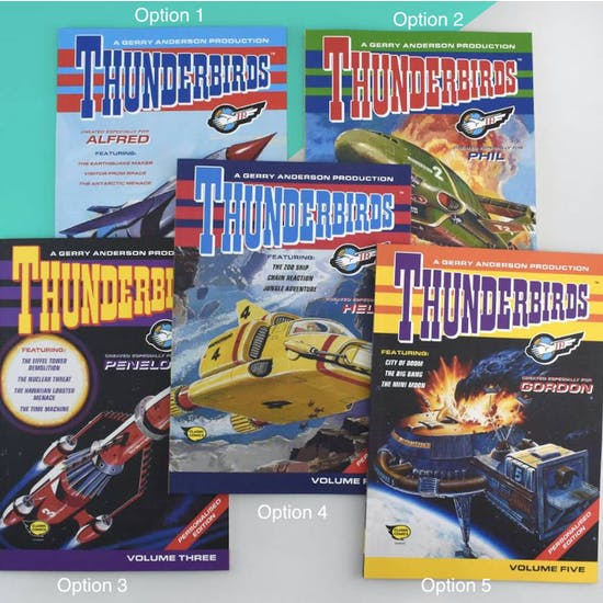 Personalised Thunderbirds Gift Boxed Book