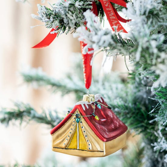 Personalised Tent Shaped Bauble
