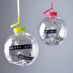 Personalised Christmas Glass