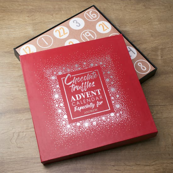 Personalised Truffles Advent Calendar Box