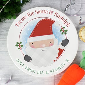Personalised Treats for Santa Plate