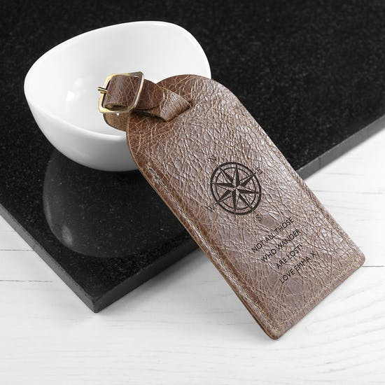 Personalised Travellers Luggage Tag