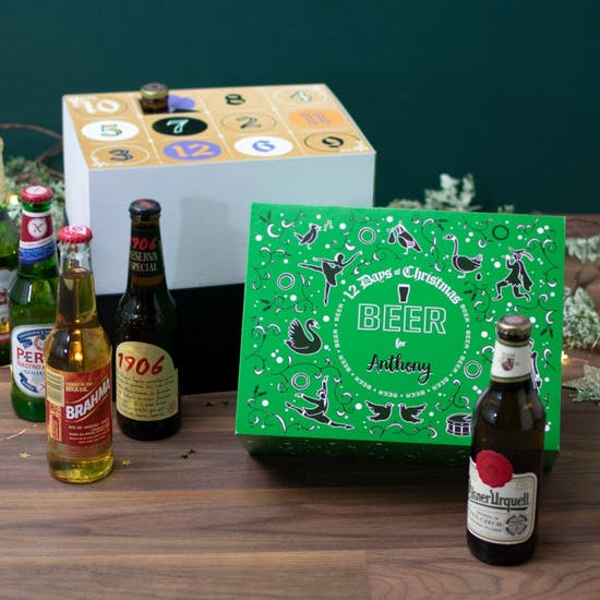 Personalised 12 Days Beer Countdown Calendar