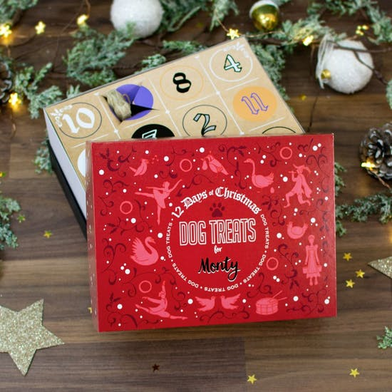 Personalised 12 Days Of Dog Treats Advent