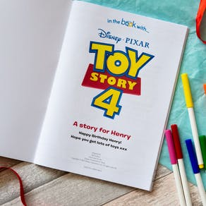 Personalised Toy Story Four Colouring Book