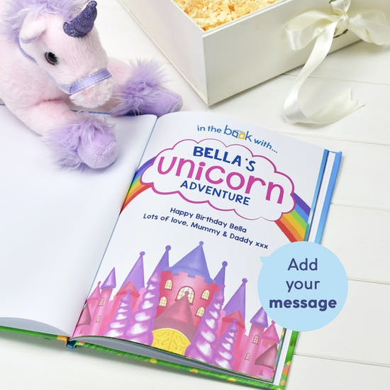 Personalised Unicorn Book And Toy Set