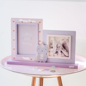 Personalised Cute Unicorn Cat Photo Frame