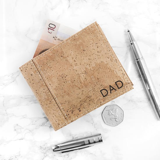 Personalised Vegan Leather Cork Wallet