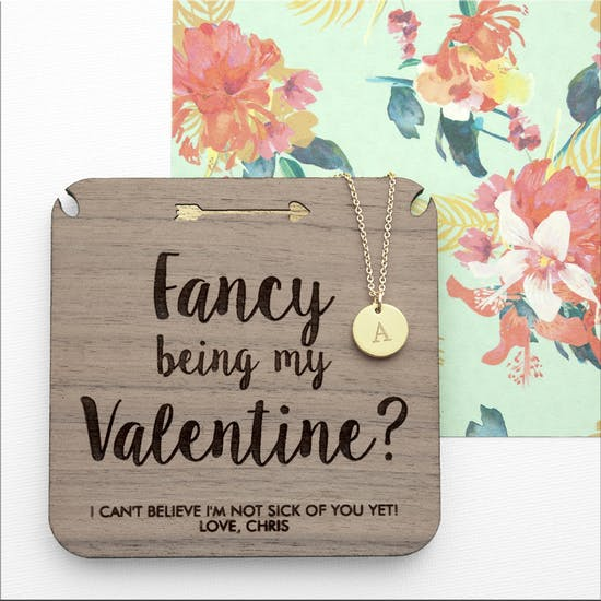 Personalised Be My Valentine Necklace