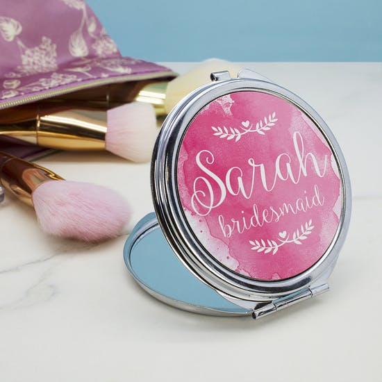Personalised Wedding Compact Mirror