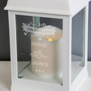 Personalised Wedding Light Up Lantern