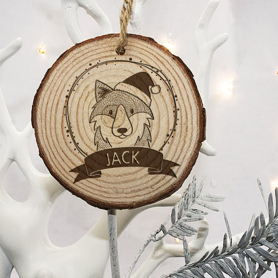 Personalised Woodland Animal Decoration