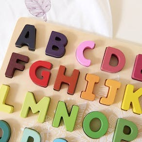Personalised Wooden Alphabet Learning Toy