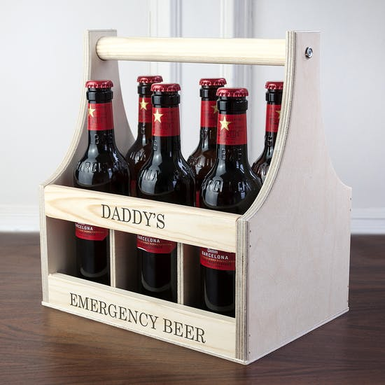 Personalised Wooden Beer Trug For Him