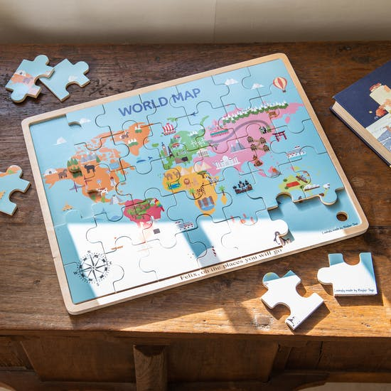 Personalised Wooden Childs World Jigsaw