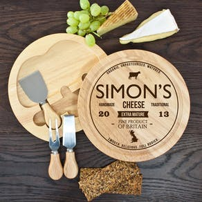 Retro 'Game On' Couples' Heart Cheese Board