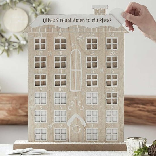 Personalised Wooden House Advent Calendar