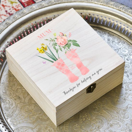 Personalised Wooden Keepsake Box For Her