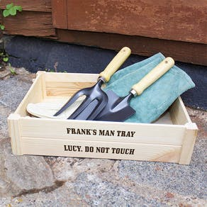 Personalised Wooden 'Man Tray'