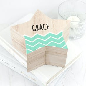 Personalised Wooden Star Box