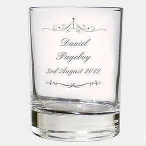 Personalised Wedding Glass