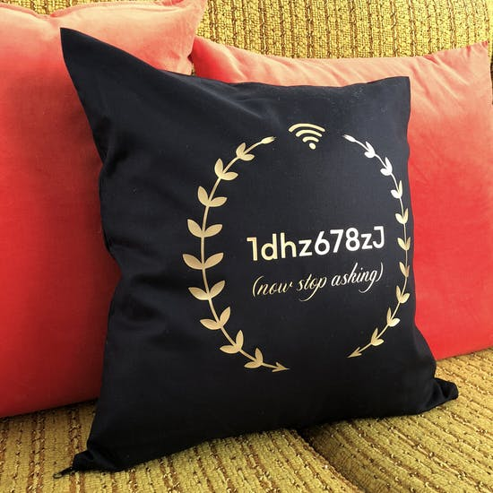 Personalised Wifi Code Cushion