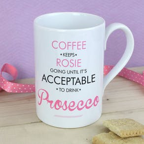 Personalised 'When Is It Acceptable To Drink' Mug