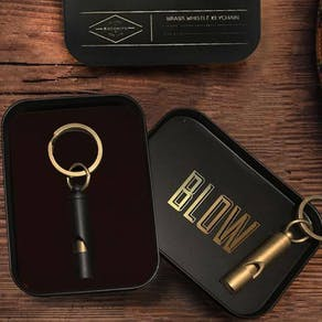Personalised Whistle Keychain