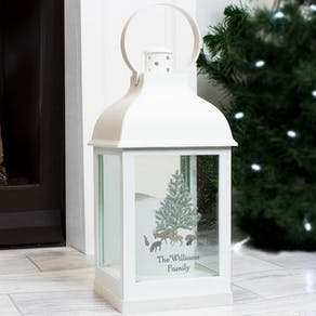 Personalised White Christmas Lantern