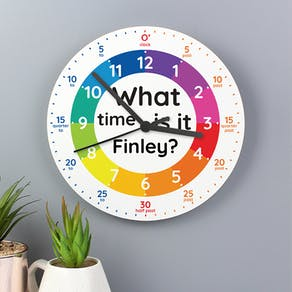 Personalised What Time Is It? Clock