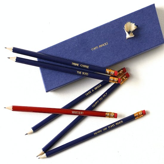 Personalised 'Weekend' Gift Boxed Pencils