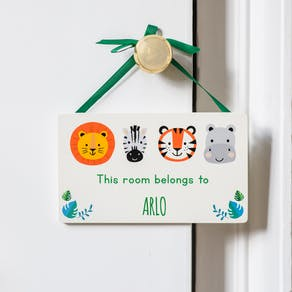 Personalised Wild Animal Door Hanger