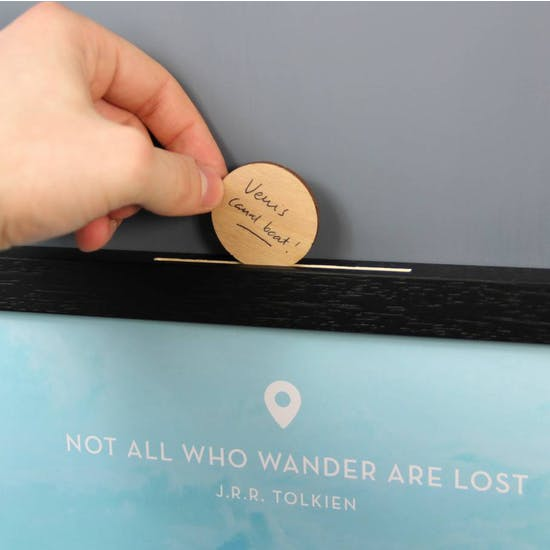 Personalised Wander List Box Frame