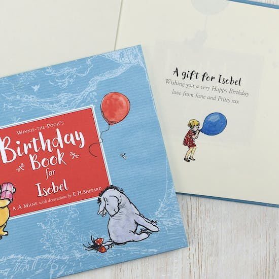 Personalised Winnie The Pooh Birthday Book