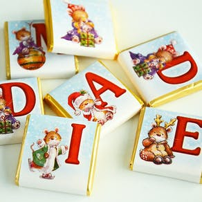 Personalised Christmas Chocolate Letters