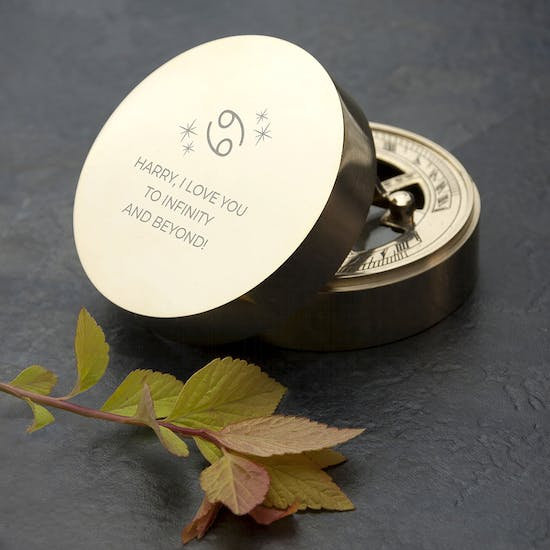 Personalised Zodiac Sundial And Compass